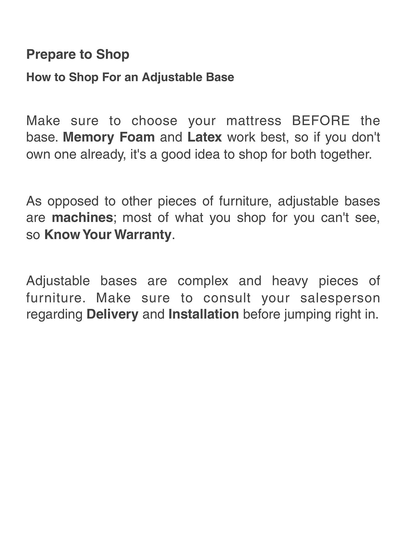 Adjustable Bases Buying Guide
